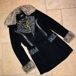 NEW BKE Outwear Winter Jacket With Fur